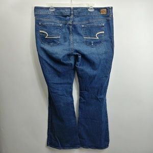American Eagle Womens Artist Jeans Sz 18 L 40x33